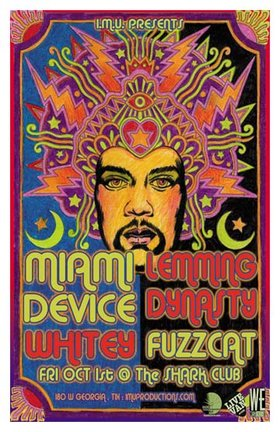 MIAMI DEVICE , Whitey, LEMMING DYNASTY, Fuzzcat @ Shark Club Oct 1 2010 - Sep 19th @ Shark Club