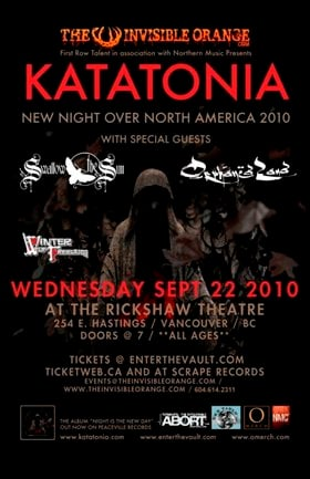 KATATONIA, ORPHANED LAND, Swallow The Sun, Winter Of Freedom @ Rickshaw Theatre Sep 22 2010 - Feb 19th @ Rickshaw Theatre