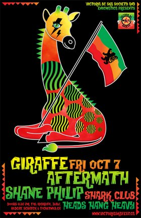 SHANE PHILIP MAKES VANCOUVER DEBUT WITH GIRAFFE AFTERMATH!: Giraffe Aftermath, Unlinked Musician, Heads Hang Heavy @ Shark Club Oct 7 2011 - Sep 19th @ Shark Club