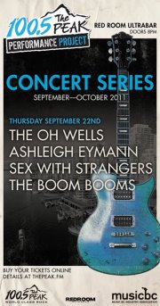 The Boom Booms, Sex with Strangers, Ashleigh Eymann, The Oh Wells @ The Red Room Sep 22 2011 - Jul 21st @ The Red Room