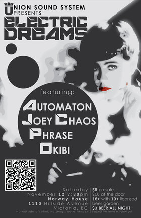 Electric Dreams: AUTOMATON, Joey Chaos, Phrase, Okibi @ Sons of Norway Nov 12 2011 - Dec 15th @ Sons of Norway
