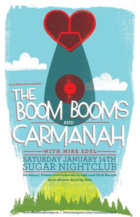 Carmanah, The Boom Booms, Mike Edel @ Capital Ballroom Jan 14 2012 - Jul 21st @ Capital Ballroom