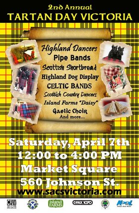 COOKEILIDH - Tartan Day Victoria: Cookeilidh @ Market Square Apr 7 2012 - Sep 18th @ Market Square