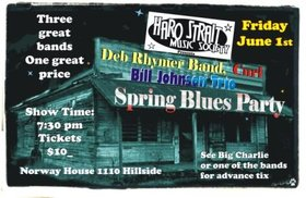 Bill Johnson Trio, CURL, The Deb Rhymer Band @ Sons of Norway Jun 1 2012 - Apr 25th @ Sons of Norway
