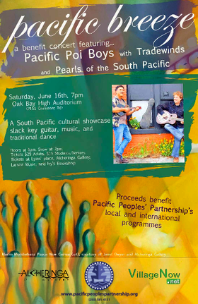 Pacific Breeze: The Pacific Poi Boys, Tradewinds, Pearls of the South Pacific @ Oak Bay Auditorium Jun 16 2012 - Mar 21st @ Oak Bay Auditorium