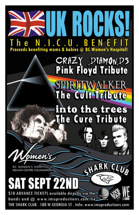 THIS SATURDAY! UK ROCKS!: Crazy Diamonds, Spiritwalker, INTO THE TREES @ Shark Club Sep 22 2012 - Sep 19th @ Shark Club