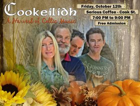 A Harvest of Celtic Music: Cookeilidh @ Serious Coffee - Cook St. Oct 12 2012 - Dec 13th @ Serious Coffee - Cook St.