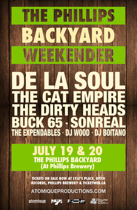 THE PHILLIPS BACKYARD WEEKENDER: The Cat Empire, Dirty Heads, The Expendables, DJ Boitano @ The Phillips Backyard (at Phillips Brewery) - Jul 19 2013 - Dec 12th @ The Phillips Backyard (at Phillips Brewery) -