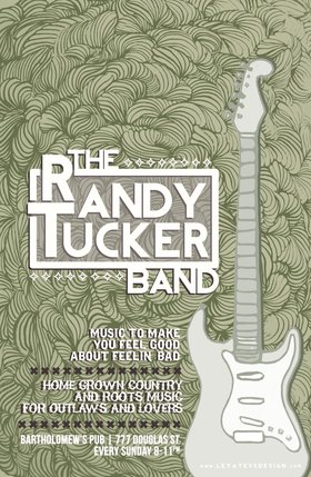 Every Sunday evening at Bart's: The Randy Tucker Band @ Bartholomews Pub May 26 2013 - Aug 25th @ Bartholomews Pub