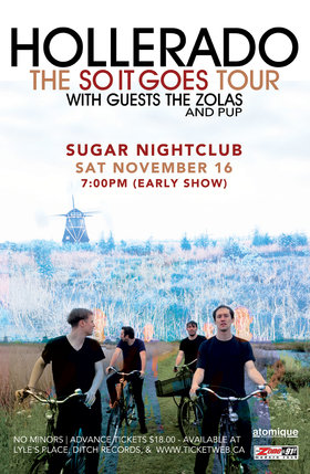 Hollerado (SOLD OUT), The Zolas , Pup @ Capital Ballroom Nov 16 2013 - Jul 21st @ Capital Ballroom