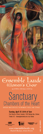 Gala Concert ~ Sanctuary: Chambers of the Heart: Ensemble Laude, Elizabeth MacIsaac (Artistic Director) @ First Church of Christ Scientist Apr 27 2014 - Sep 21st @ First Church of Christ Scientist