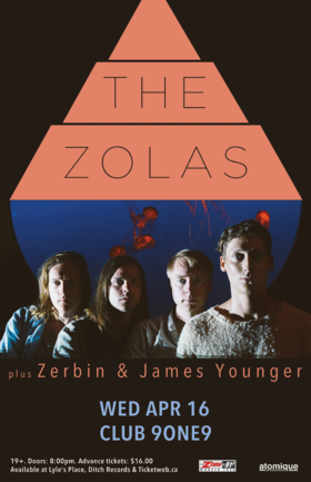 The Zolas , Zerbin, James Younger @ Distrikt Apr 16 2014 - Jul 21st @ Distrikt
