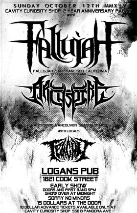1st time to the island!!: Fallujah, Archspire, Tenchu @ Logan's Pub Oct 12 2014 - Jan 21st @ Logan's Pub