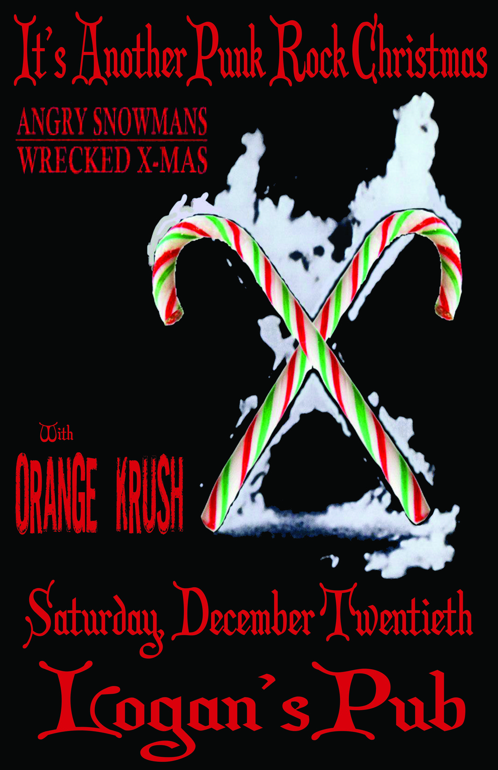 Another Punk Rock Christmas: Angry Snowmans, Orange Krush @ Logan's