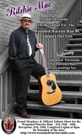 Wounded Warriors Run Bc Reception Party: The Ritchie Mac Band @ Langford Legion (Prince Edward) Feb 20 2015 - Dec 10th @ Langford Legion (Prince Edward)