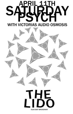 SATURDAY PSYCH @ THE LIDO: Audio Osmosis @ The Lido Apr 11 2015 - Dec 19th @ The Lido