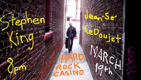 """Rock the Mic"": Stephen King, Jean-Se' Le Doujet @ Hard rock casino Mar 19 2015 - Nov 17th @ Hard rock casino"