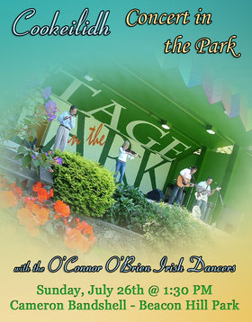 Cookeilidh, O'Connor O'Brien Irish Dancers @ Stage in the Park (Cameron Bandshell) Jul 26 2015 - Mar 18th @ Stage in the Park (Cameron Bandshell)