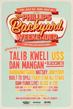 The Phillips Backyard Weekender: USS, Badbadnotgood, Bliss N Eso, Watsky, Bestie, Little India @ The Phillips Backyard (at Phillips Brewery) - Jul 25 2015 - Dec 12th @ The Phillips Backyard (at Phillips Brewery) -