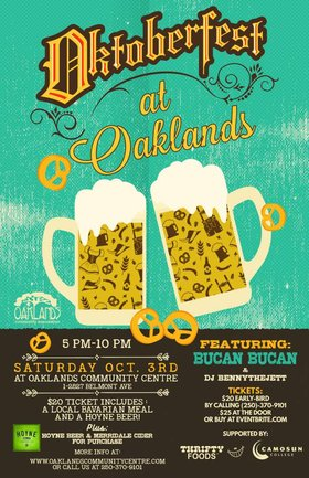 Oktoberfest at Oaklands with Bučan Bučan: Bučan Bučan, DJ BENNY THE JETT @ Oaklands Community Association Oct 3 2015 - Aug 25th @ Oaklands Community Association