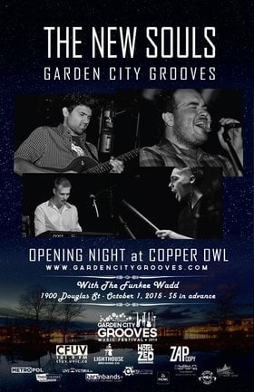 Garden City Grooves Opening Night: The New Souls, The Funkee Wadd, + special guests @ Copper Owl Oct 1 2015 - Dec 9th @ Copper Owl