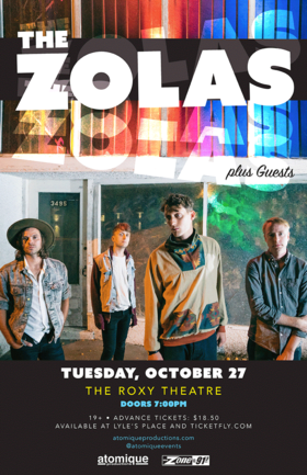 The Zolas  @ Blue Bridge at the Roxy Oct 27 2015 - Jul 21st @ Blue Bridge at the Roxy
