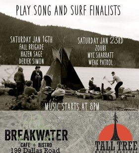 Song and Surf: Weak Patrol, Zoubi and the Sea, Myc Sharratt @ Breakwater Cafe + Bistro Jan 23 2016 - Aug 24th @ Breakwater Cafe + Bistro