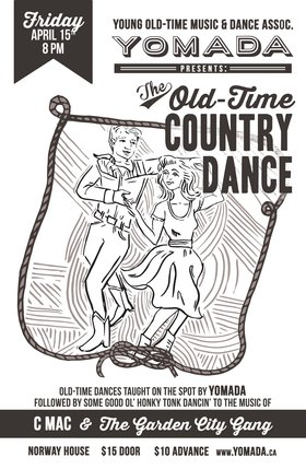 YOMADA's Old-Time Country Dance: YOMADA's House Stringband, Cluny Macpherson & The Garden City Gang @ Sons of Norway Apr 15 2016 - Apr 25th @ Sons of Norway