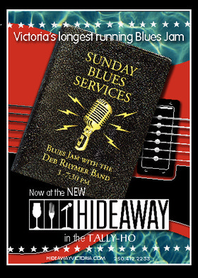 Sunday Blues Service: The Deb Rhymer Band @ Hideaway Café May 8 2016 - Dec 12th @ Hideaway Café