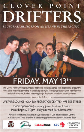 Clover Point Drifters @ Upstairs Lounge - Oak Bay Recreation Centre May 13 2016 - Dec 14th @ Upstairs Lounge - Oak Bay Recreation Centre