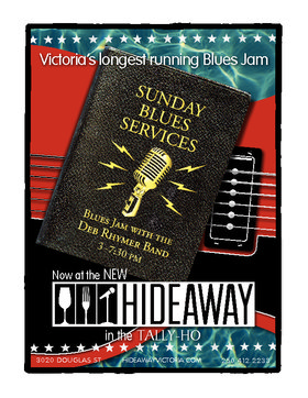 Sunday Blues Service: Deb Rhymer (Hunt) (Hunt) @ Hideaway Café May 15 2016 - Dec 12th @ Hideaway Café