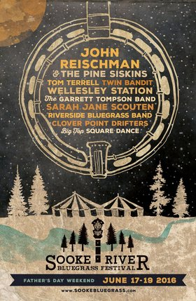 Sooke River Bluegrass Festival 2016: John Reischman, Twin Bandit  , Tom Terrell, Wellesley Station, Clover Point Drifters, Sarah Jane Scouten , The Garrett Tompson Band, Riverside Bluegrass Band @ Sooke River Flats Jun 17 2016 - Jan 20th @ Sooke River Flats