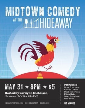 Midtown Comedy @ Hideaway Café May 31 2016 - Dec 12th @ Hideaway Café