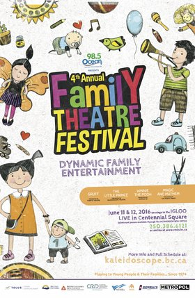 Family Theatre Festival: Puente Theatre, Outpost 31, Kaleidoscope Theatre, Cam and Daisy, The Purple Pirate @ Victoria's Spirit Square (in Centennial Square) Jun 11 2016 - Jan 22nd @ Victoria's Spirit Square (in Centennial Square)