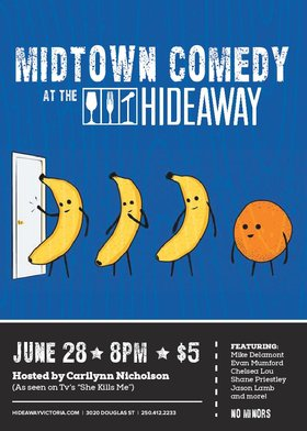 Midtown Comedy Night @ Hideaway Café Jun 28 2016 - Dec 12th @ Hideaway Café