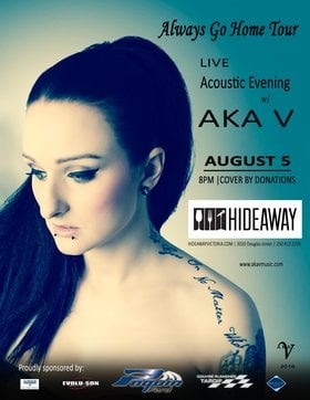 Live Acoustic Evening: Aka V @ Hideaway Café Aug 5 2016 - Dec 12th @ Hideaway Café