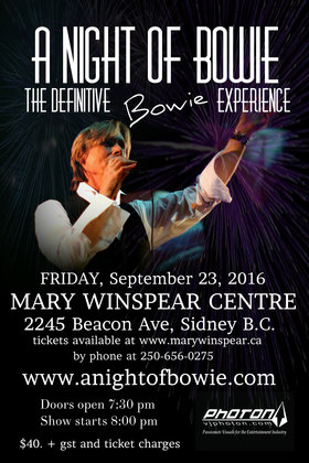 The Definitive Bowie Experience: a Night of Bowie @ Charlie White Theatre Sep 23 2016 - Jan 16th @ Charlie White Theatre