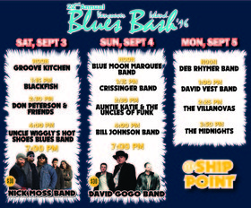 Vancouver Island Blues Bash: The Deb Rhymer Band @ Ship Point (Inner Harbour) Sep 5 2016 - Apr 20th @ Ship Point (Inner Harbour)
