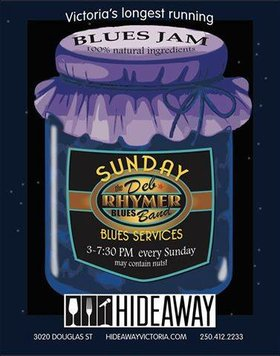 Sunday Blues Services: The Deb Rhymer Band @ Hideaway Café Sep 4 2016 - Dec 12th @ Hideaway Café