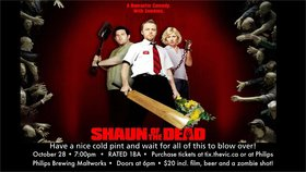 Movie Under The Maltworks: Shaun of the Dead @ The Phillips Backyard (at Phillips Brewery) - Oct 28 2016 - Dec 12th @ The Phillips Backyard (at Phillips Brewery) -