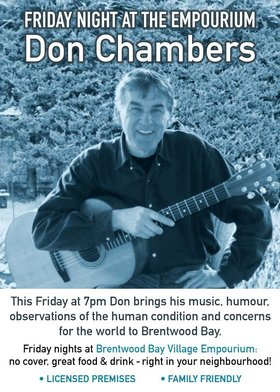 Friday Night at the Empourium: Don Chambers @ Brentwood Bay Village Empourium Oct 7 2016 - Aug 19th @ Brentwood Bay Village Empourium