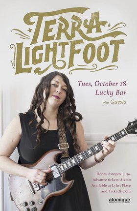 TERRA LIGHTFOOT, Zoubi Arros @ Lucky Bar Oct 18 2016 - Aug 24th @ Lucky Bar