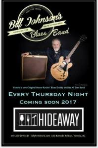 Bill Johnson @ Hideaway Café Jan 12 2017 - Dec 12th @ Hideaway Café