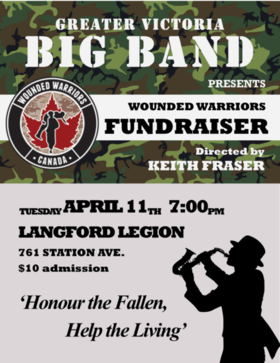 GVBB Wounded Warriors Fundraiser @ Langford Legion (Prince Edward) Apr 11 2017 - Dec 10th @ Langford Legion (Prince Edward)