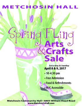 Spring Fling Arts & Crafts Fair - Metchosin Hall @ Metchosin Hall Apr 8 2017 - Dec 10th @ Metchosin Hall