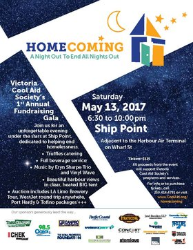 Homecoming – A Night Out To End All Nights Out: Eryn Sharpe Trio  (jazz), VINYL WAVE (dance music) @ Ship Point (Inner Harbour) May 13 2017 - Apr 20th @ Ship Point (Inner Harbour)