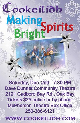 COOKEILIDH - Making Spirits Bright!: Cookeilidh @ Dave Dunnet Theatre  Dec 2 2017 - Dec 13th @ Dave Dunnet Theatre