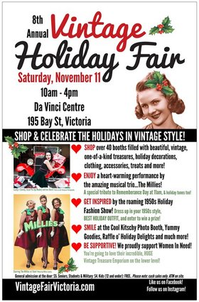 8th Annual Vintage Holiday Fair: the millies @ Leonardo da Vinci Centre Nov 11 2017 - Dec 9th @ Leonardo da Vinci Centre