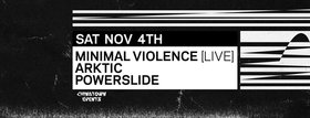 Frequency Saturdays featuring: MINIMAL VIOLENCE, ARKTIC, POWERSLIDE @ Copper Owl Nov 4 2017 - Dec 9th @ Copper Owl