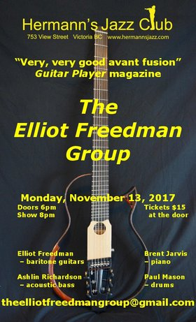 """Very, very good avant fusion ‎[Guitar Player magazine]"": Elliot Freedman Group @ Hermann"